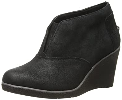Sperry Womens Black Suede Boots Harlow Wedge
