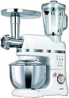Klarstein Lucia - Robot de cocina universal, Batidora, Amasadora, Picadora, Licuadora, 5 L, Batido planetario, Cabezal Pasta, Recipiente de acero inoxidable, 1300 W, Crema: Amazon.es: Hogar