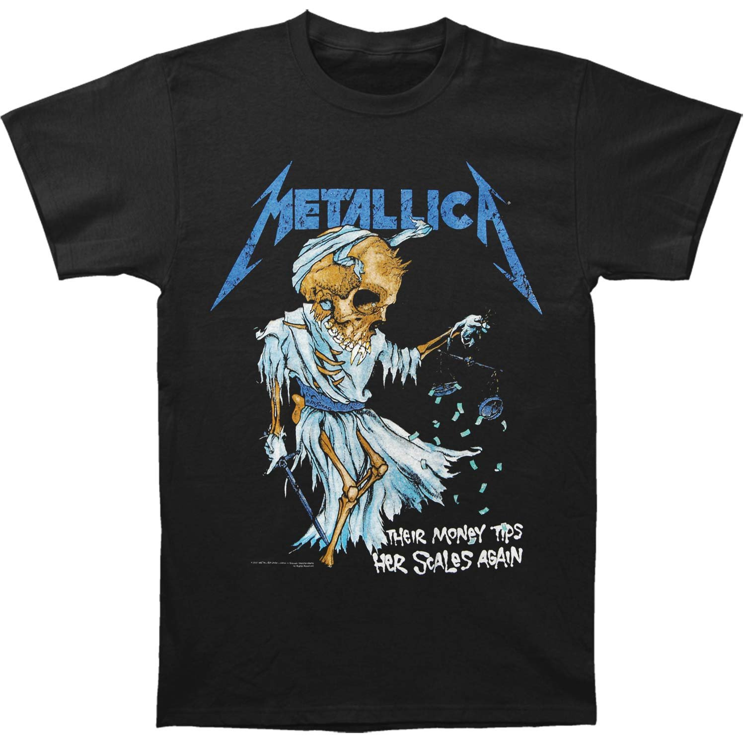 Metallica Men's Doris T-shirt X-Large Black