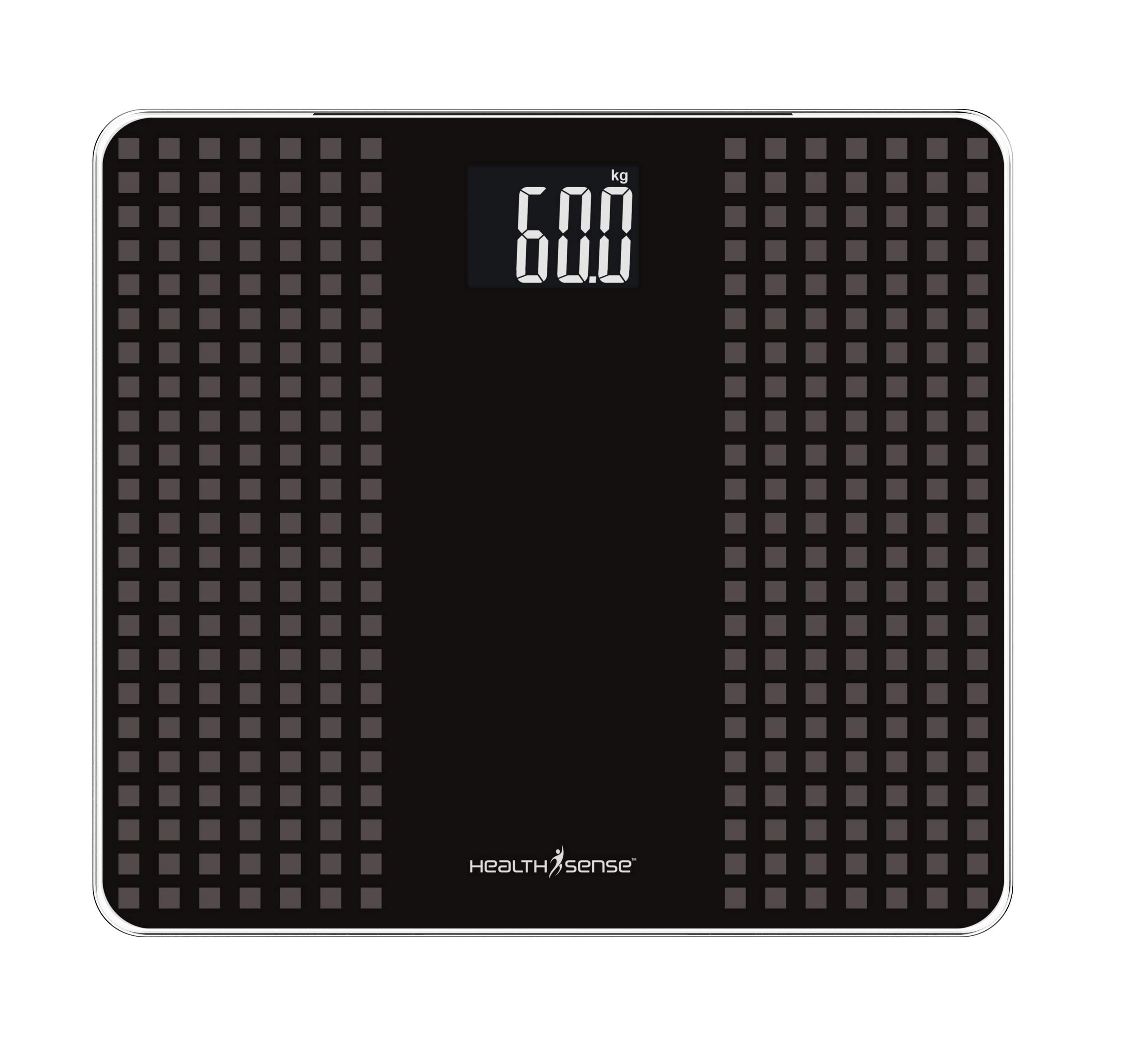 Health Sense PS 117 Glass Top Digital Personal Body Weighing Scale (Black/Gray) product image