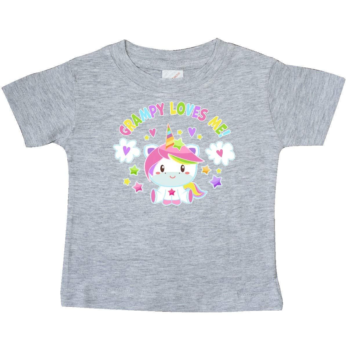inktastic Grampy Loves Me with Cute Rainbow Unicorn Baby T-Shirt