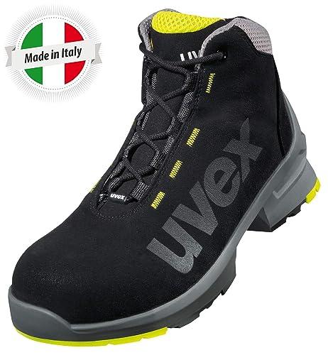 Uvex 1 Bota de Seguridad S2 SRC | Zapato Profesional de Trabajo | Punta Antiaplastamiento de Composite | Negro