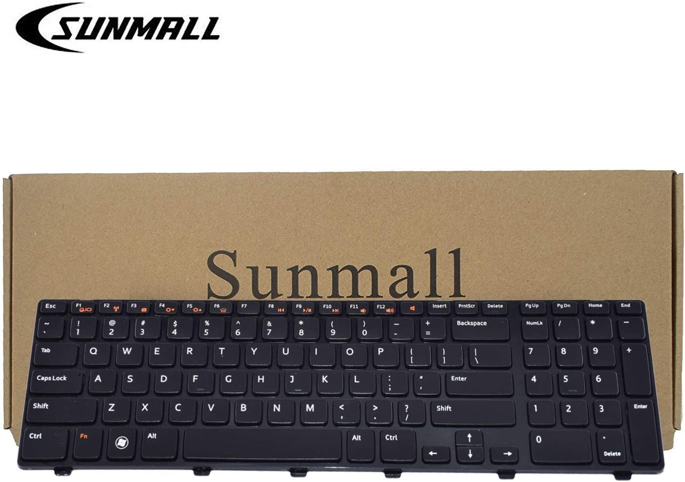SUNMALL Keyboard Replacement with backlit for Dell Inspiron 17 17R N7110 5720 7720/XPS 17 L701X L702 X 454RX 0454RX/Vostro 3750 Series Laptop US Layout