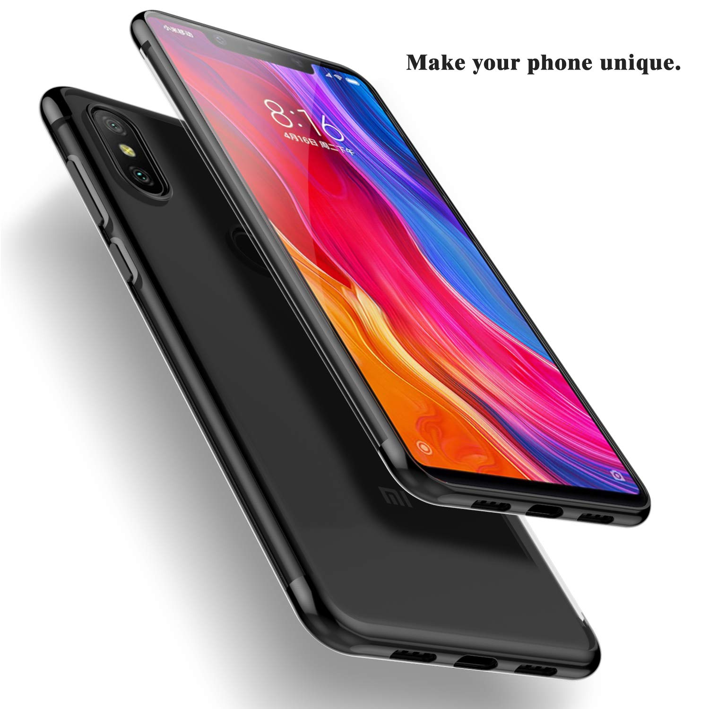Azul para Xiaomi Mi 8 SE Kugi Funda Xiaomi Mi 8 SE,Xiaomi Mi 8 SE TPU Transparente Slim Silicona Case Cover Anti-ara/ñazos