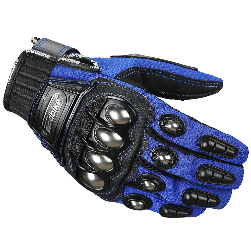 XXL, BLACK ILM Alloy Steel Knuckle Motorcycle Gloves Motorbike Powersports Racing Tactical Paintball