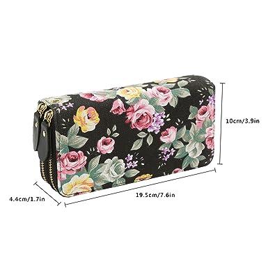 Amazon.com: Monedero de lona con cremallera para mujer ...