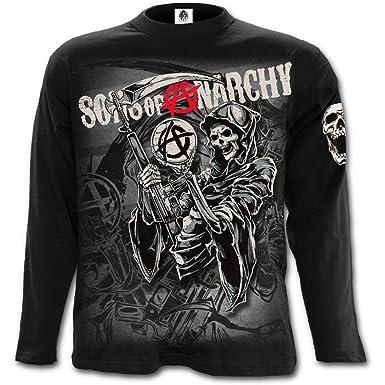 Sons Of Anarchy Camiseta de Manga Larga Collage Reaper (Negro) - M: Amazon.es: Ropa y accesorios