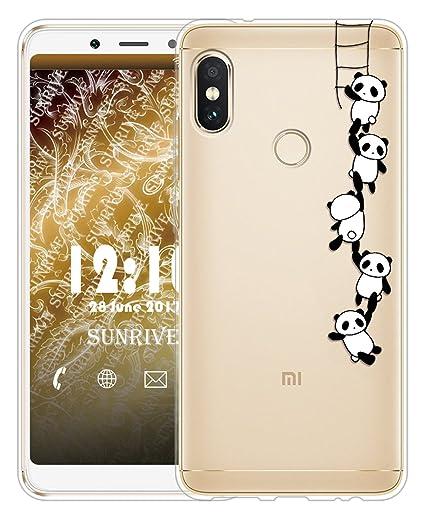Sunrive Funda para Xiaomi Redmi Note 5, Silicona Slim Fit Gel Transparente Carcasa Case Bumper de Impactos y Anti-Arañazos Espalda Cover para Xiaomi ...