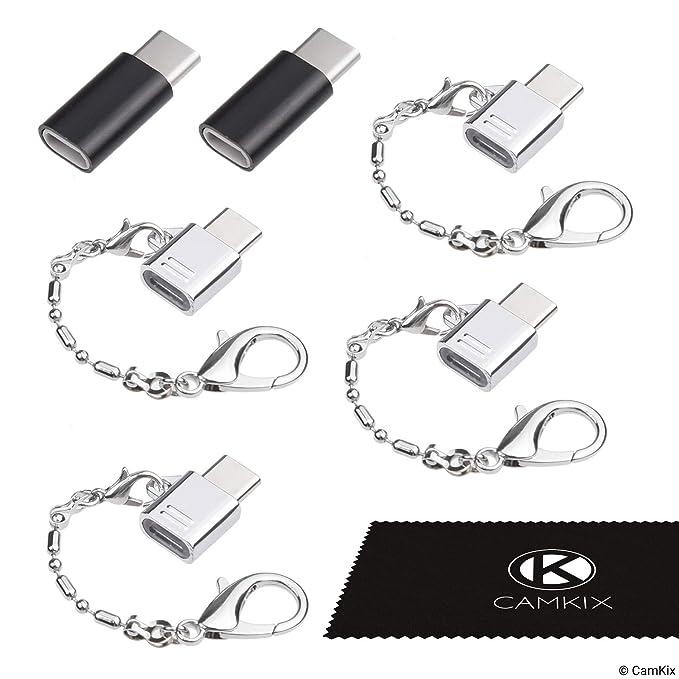 9 opinioni per CAMKIX Adattatore Micro USB a USB C (4X Compatti con Portachiavi + 2X Normali)-