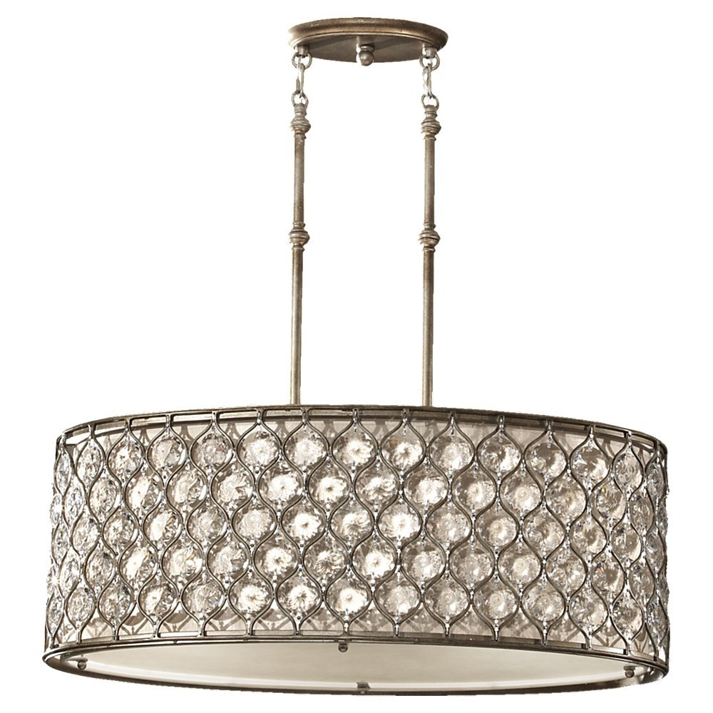 Amazon Feiss F25693BUS Lucia 3Light Shade Pendant – Murray Feiss Chandeliers