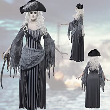 NET TOYS Disfraz de Pirata Zombie Pirata Fantasma Mujer S 36/38 ...