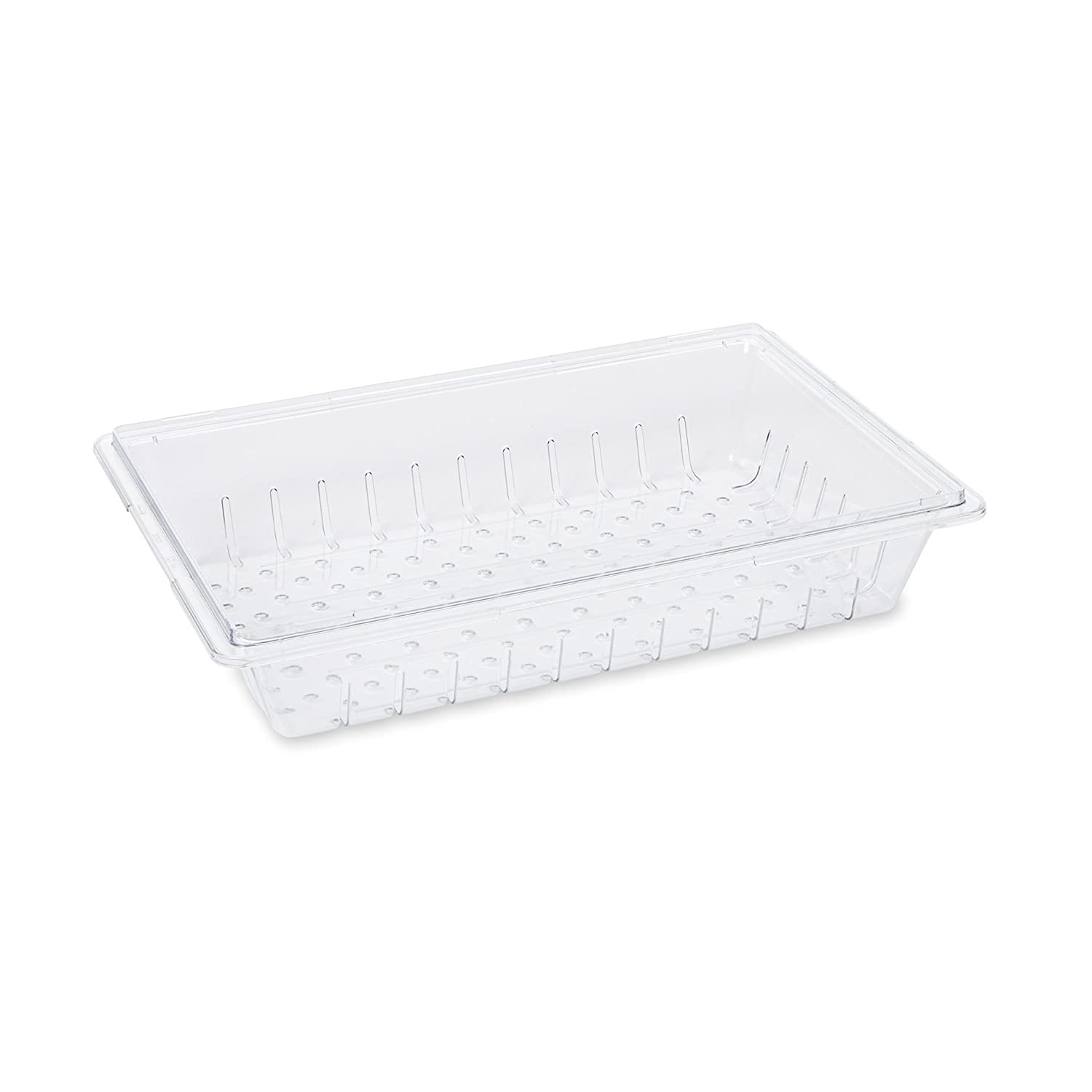 Rubbermaid Commercial Products Food Storage Box Drainage Colander for 8.5, 12.5, 16.5 and 21.5 Gallon Sizes, Clear (FG330300CLR)