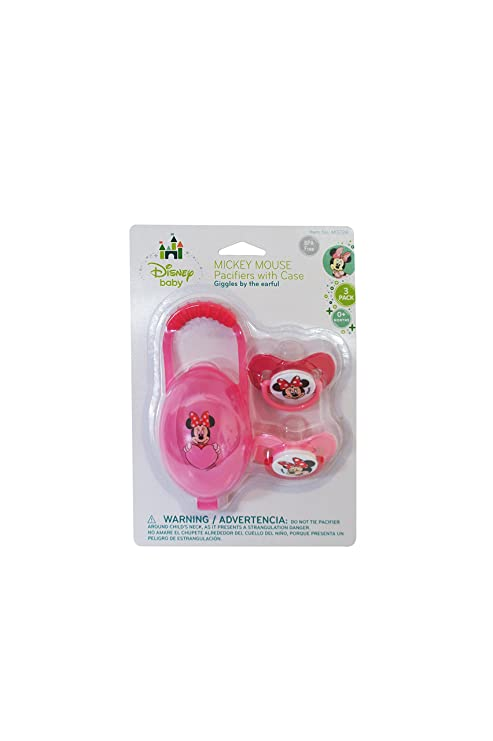 Minnie Mouse Pacifiers & Pacifier Case: Amazon.es: Bebé