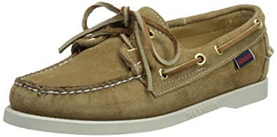 LADIES SEBAGO DOCKSIDES SAND SUEDE LEATHER LACE UP BOAT SHOES