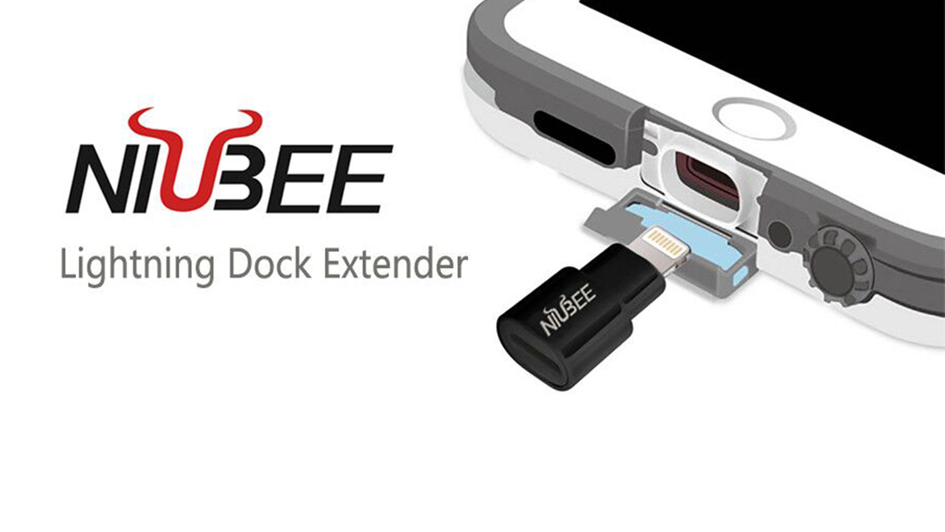 brand new f3de9 a96fe NIUBEE Extender Dock for Lifeproof Otterbox Case, Male to Female ...