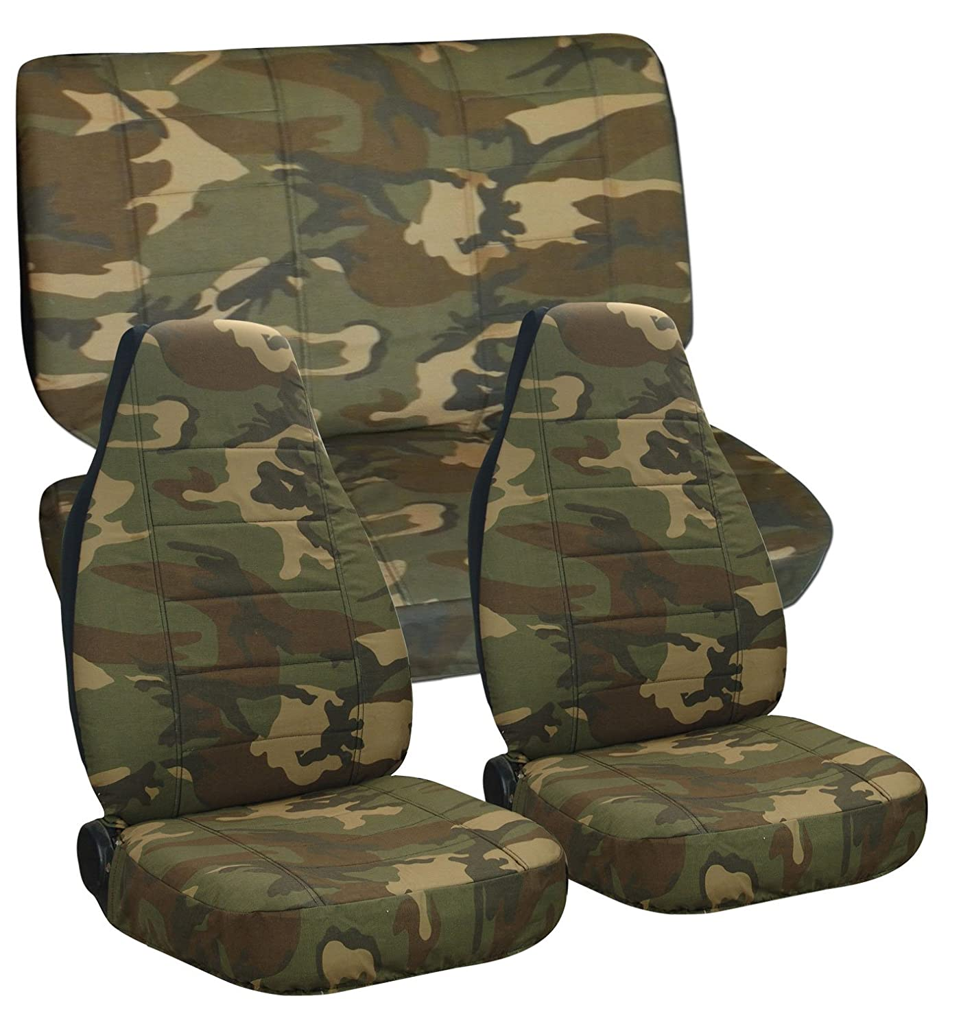 Com Complete Set Of Army Camo Seat Covers For A Jeep