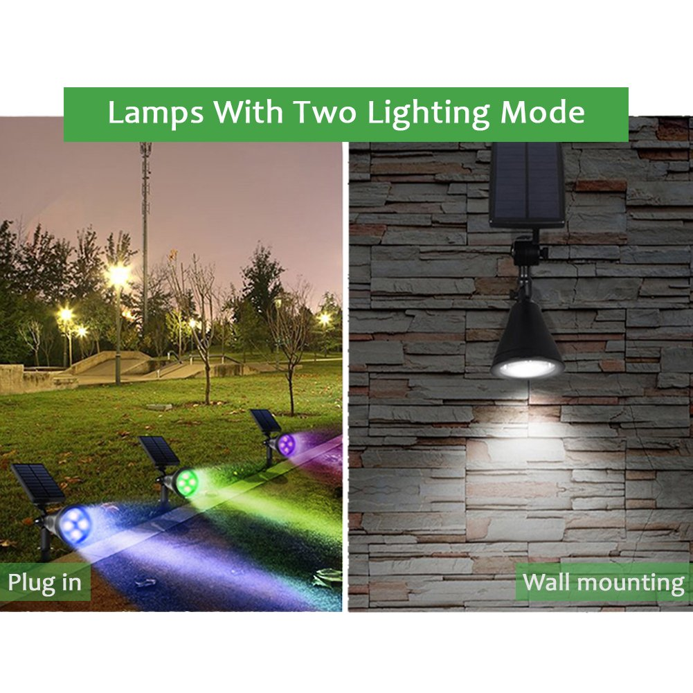 PowerKing Flood Light LED Outdoor Remote Solar Flood Light For Garden (8 color,2 pcs) by PowerKing (Image #3)