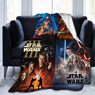 Smile TO Star Wars Warm Plush Christmas Themed Fleece Throw Blankets for Couch Sofa Or Bed Travelling: Home & Kitchen