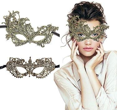 Amazon.com: Mascarilla de máscara veneciana para mujer, 2 ...