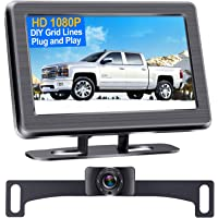 DoHonest S01 HD 1080P Backup Camera with 4.3 Inch Monitor Kit, Easy Installation for Cars,Trucks,SUVs,Vans IP69…