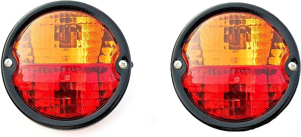 clignotant plaque dimmatriculation arri/ère avec 7,5 m c/âble pour camion van caravane Feux arri/ère pour remorque 2 pi/èces 12 V feu de frein