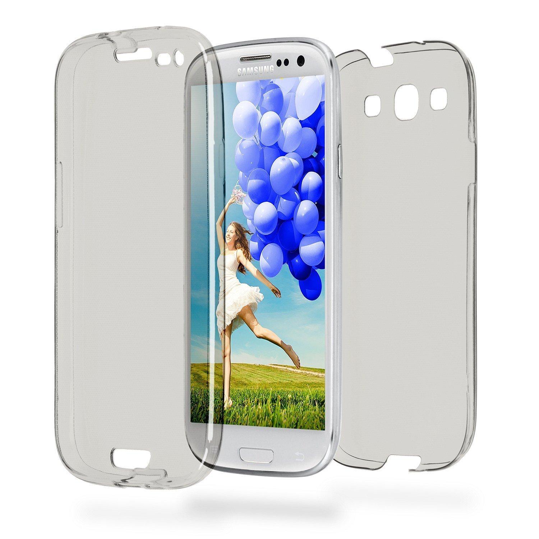 Custodia Cover Samsung Galaxy S3, Ysimee Custodia Protettiva Telefono con corpo intero in silicone a 360 gradi Custodia Davanti e dietro TPU Bumper Flessibile Silicone Gel Ultra Sottile Cover anti-graffio e antiurto Custodia per Samsung Galaxy S3 - traspar