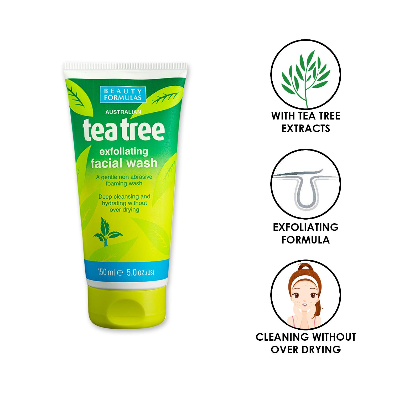 Fira foaming tea tree facial cleanser