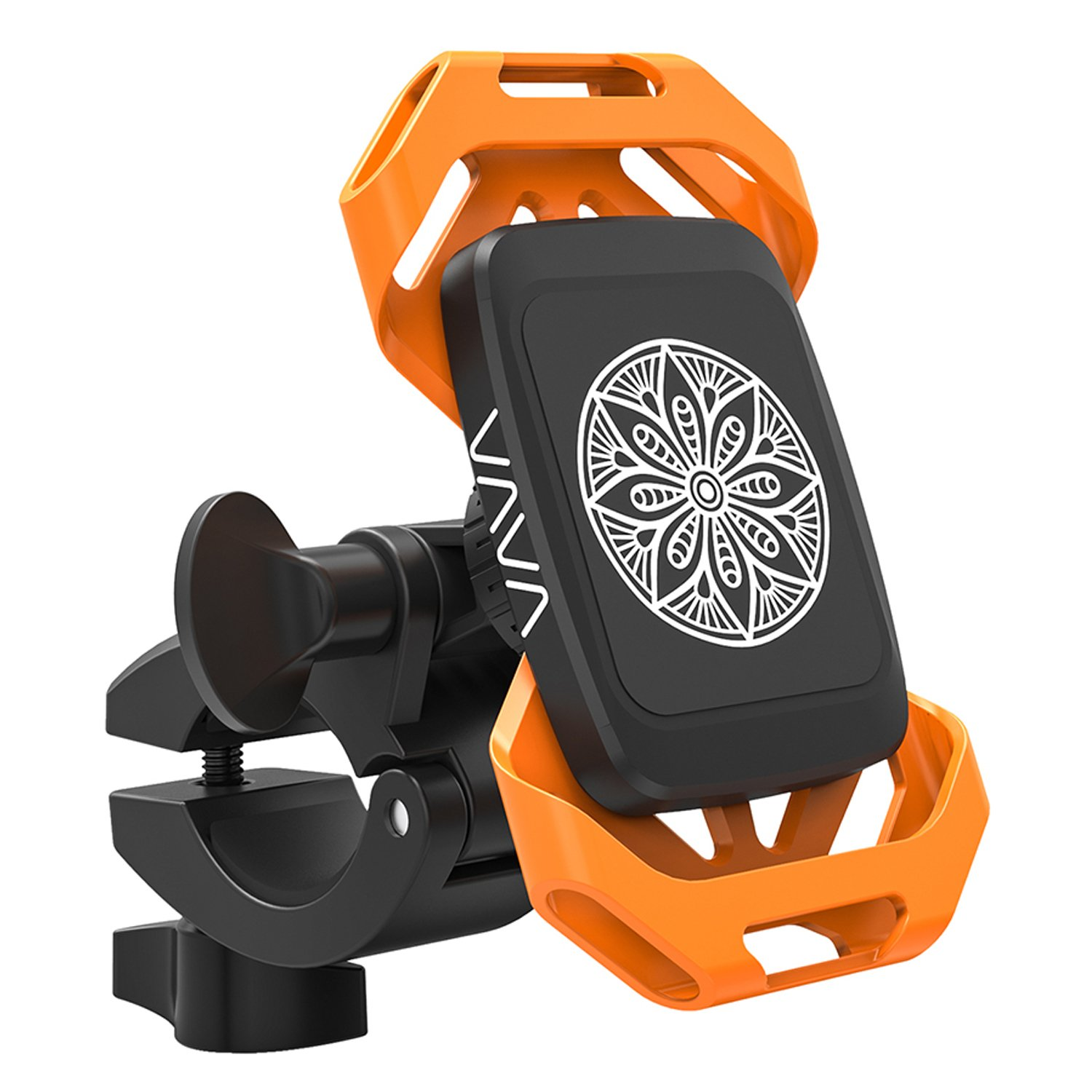 VAVA Bike Phone Mount Phone Holder for Bike with Triangular Shape Arms to Keep Phones Safe One-Handed Operation, 360 Degree Rotation, Fits Bicycles, Motorbikes, Scooters /& Prams