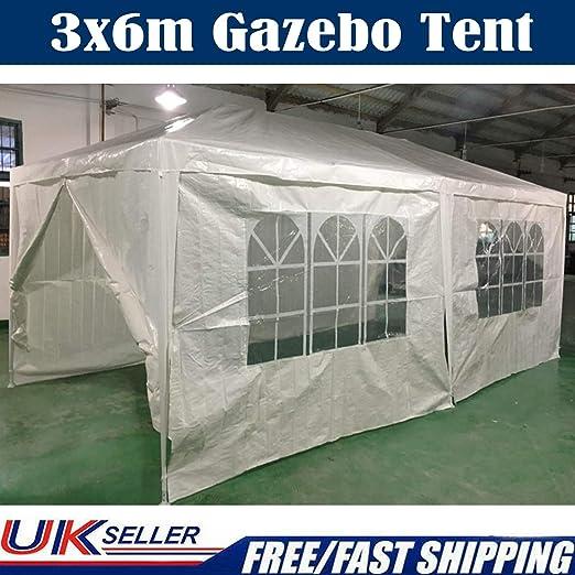 SiKy Carpa de jardín Resistente de 3 x 6 m, para Fiestas, Bodas, 120 kg, Resistente