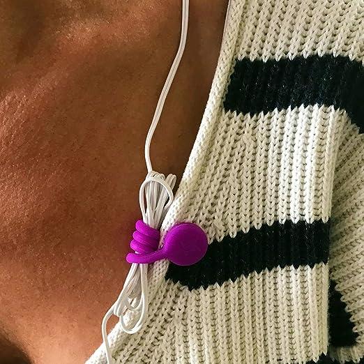 Hemobllo 10 Piezas Correas de Cable Magn/ético Organizadores de Cables Enrollador de Auriculares para Cable de Datos USB Auriculares Color Mezclado