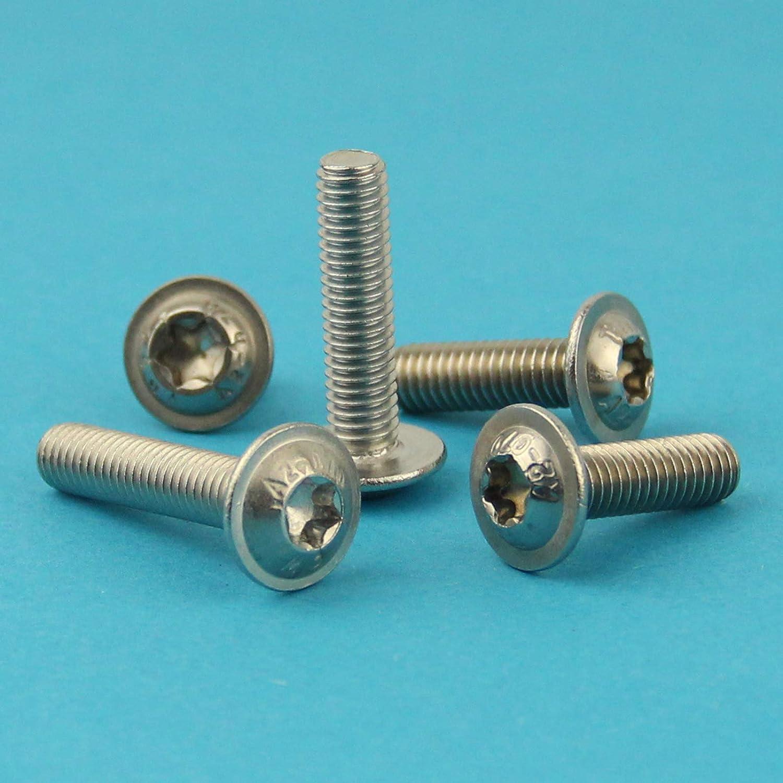 Zylinderschrauben mit Innensechsrund TX M4 x 12 mm rostfrei 40 St/ück DIN 912 Gewindeschrauben Eisenwaren2000 Edelstahl A2 V2A - Zylinderkopf Schrauben ISO 14579
