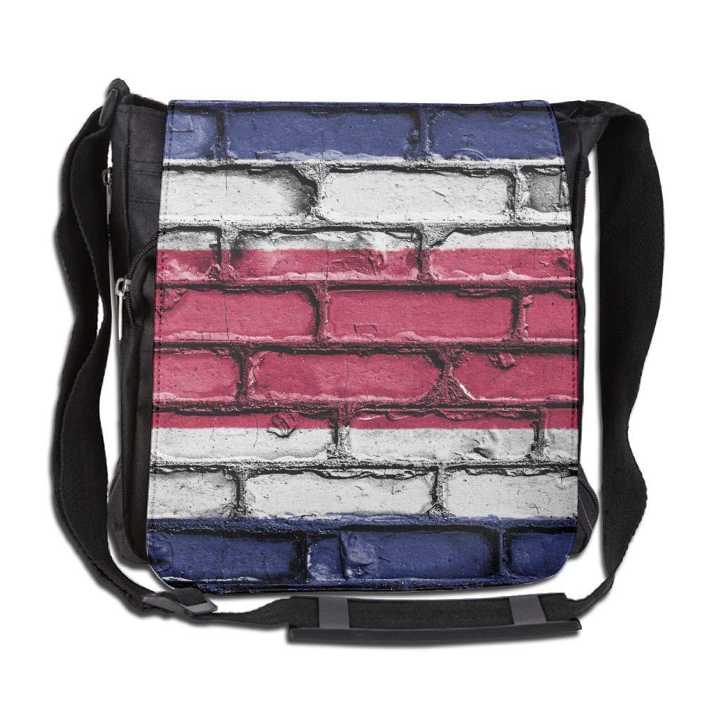 SARA NELL Messenger Bag,Costa Rica Flag Wall Art,Unisex Shoulder Backpack Cross-body Sling Bag
