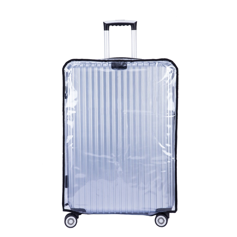 35cm L x 23cm W x 53cm H Couvertures de Voyage Housse Protection de Valise 20 Bags Transparent PVC CSTOM