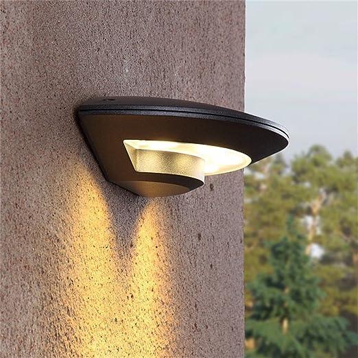 Luz de Pared al Aire Libre llevada Impermeable Luces de jardín Pared Exterior Balcón Balcón Luces de Pared al Aire Libre Creativas Creativas Antirruido Exterior: Amazon.es: Hogar