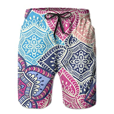 866be7b88e Ethnic Floral Cloth Pattern Men's/Boys Print Summer Casual Beach Shorts  Surfing Pants Quick Dry