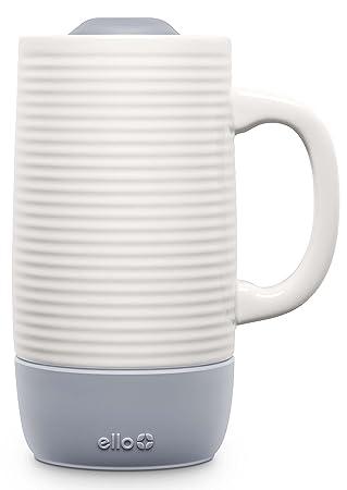 Jane Ceramic OzGrey Spill Ello Resistant Lid18 Travel Mug With Slider mwNv8n0