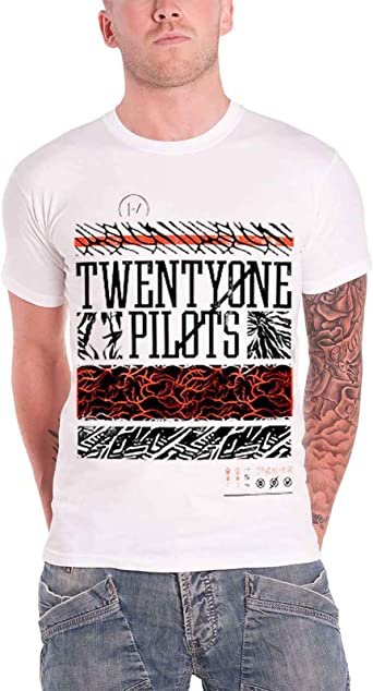 21 Twenty One Pilots T Shirt Athletic Stack Band Logo Oficial de los hombres: Amazon.es: Ropa y accesorios