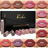 Rechoo 12 Colours Beauty Lip Gloss Waterproof Long Lasting Matte Liquid Lipstick Set