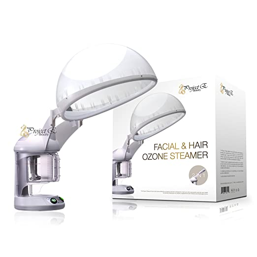 Project E Beauty Personal 2 in 1 Facial + Hair Steamer with O3 Ozone Steamer Device Home or Salon Use