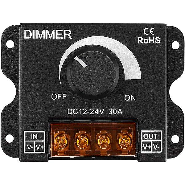 12 VOLT 5 AMP 60 WATT DIGITAL PWM LED DIMMER VARIABLE BRIGHTNESS KIT