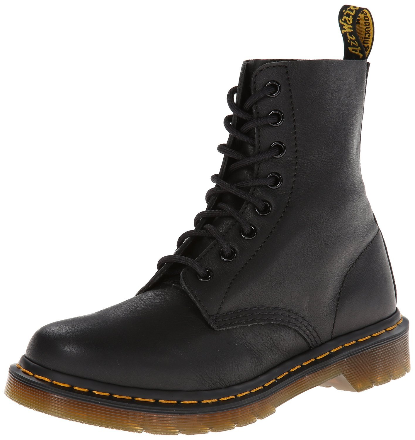 Dr. Martens Women's Pascal Combat Boot, Black, 4 UK/6 M US