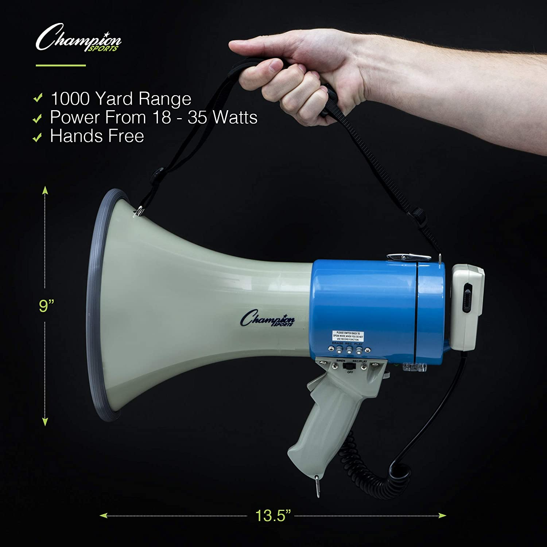 Blue/White, 20 Watt Champion Sports Voice Record Megaphone MP18W