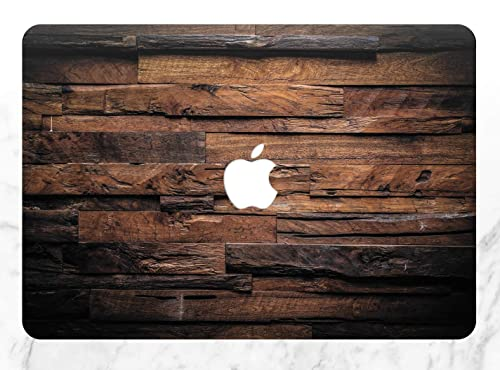 Personalized Floral Wood Hard Case Cover For Macbook Pro Air Retina 11 12 13 15