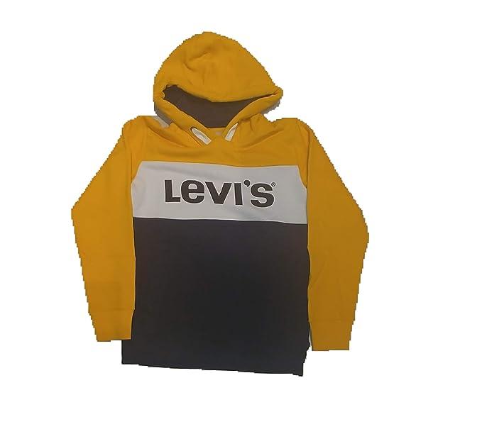 Levis - Sweat BLOCKY - Sudadera con Capucha NIÑO Amarilla Y Azul (12 AÑOS)