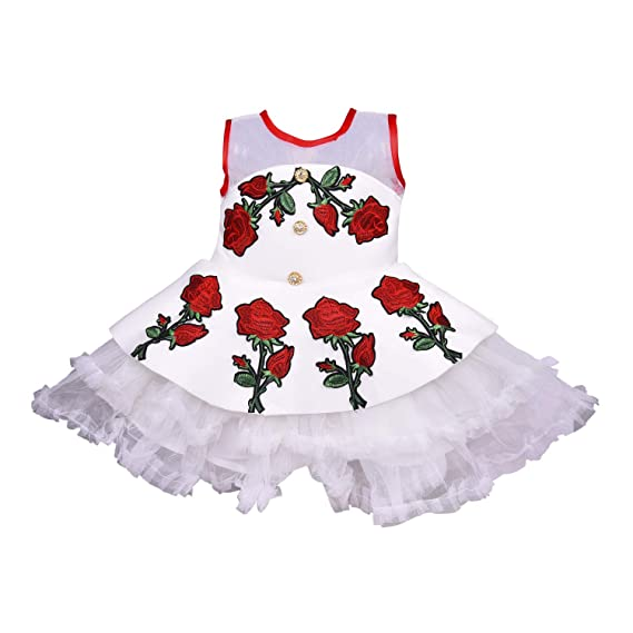 b0a5cfb8b992 Wish Karo Baby Girls Party Wear Cotton Frock Dress DN - (fe2622)   Amazon.in  Clothing   Accessories