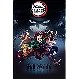 "Demon Slayer Poster Wall Art Frameable Anime Posters Room Decor Gifts for Christmas,No Frame (16""x24"") (007)"