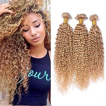 Amazon Com Zara Hair Honey Blonde Brazilian Curly Hair