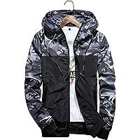 メンズ ウィンドブレーカー 迷彩 ジャケット 軽量 防風 撥水 カモフラ スポーツ アウトドア パーレジャーファッション メンズ