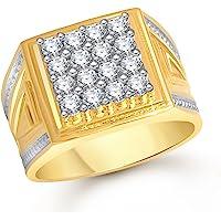 MEENAZ Jewellery Valentine Birthday Gifts Styish Gold Jewellery Rings for Men Man Boys Gents Boyfriend Ring -FR457 Size 24