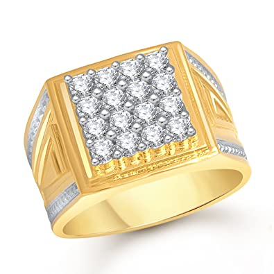 c0e8d1d3bdfbe MEENAZ Jewellery Gold Plated Ring for Men Boys Gents Rings in ...